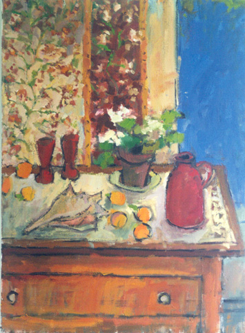 Still Life with Red Pottery - 500k